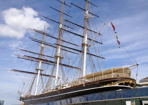 the Cutty Sark sail ship