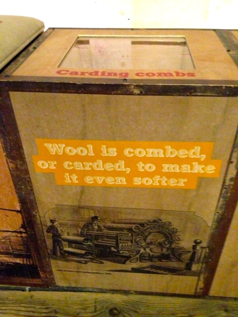 wool is combed