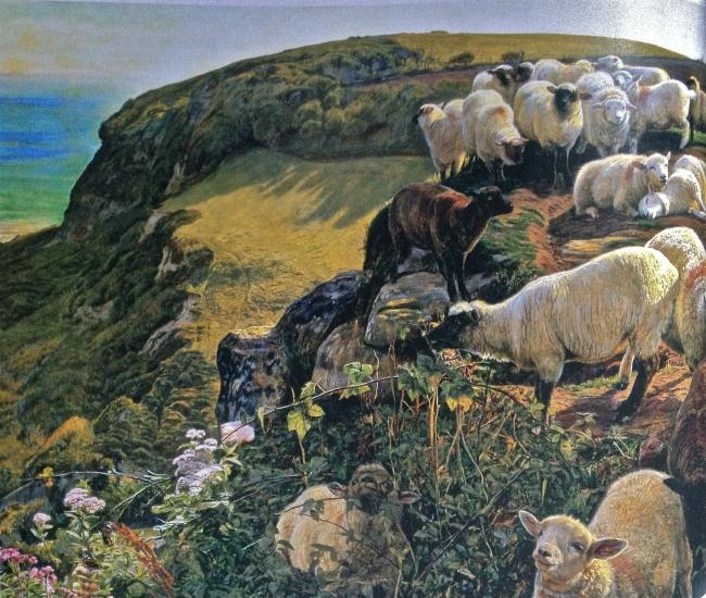 Our English Coasts ('Strayed Sheep'), William Holman Hunt, 1852
