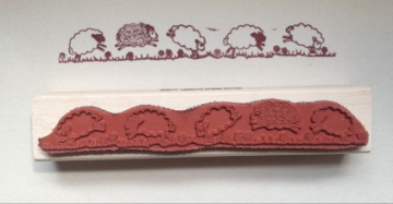 Leaping Sheep Border stamp