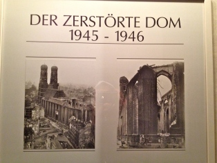 The damaged Cathedral after WWII