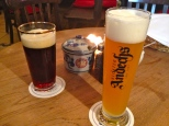 German stout beer and wheat beer