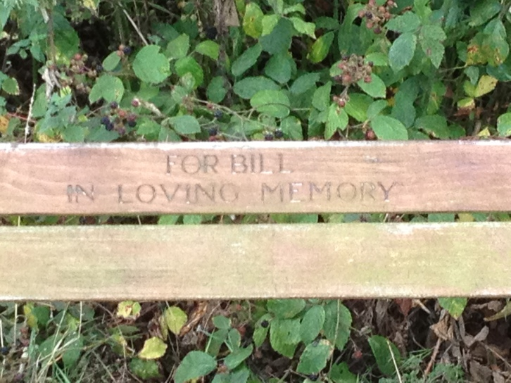"""For Bill, in loving memory"" bench"