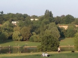 the pond from the hill