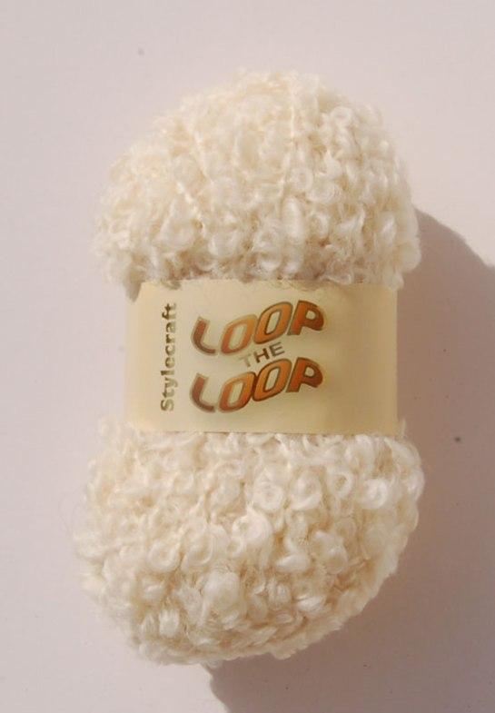 Stylecraft Loop the Loop yarn in cream