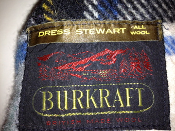 Burkraft, dress Stewart, all wool, British made wool