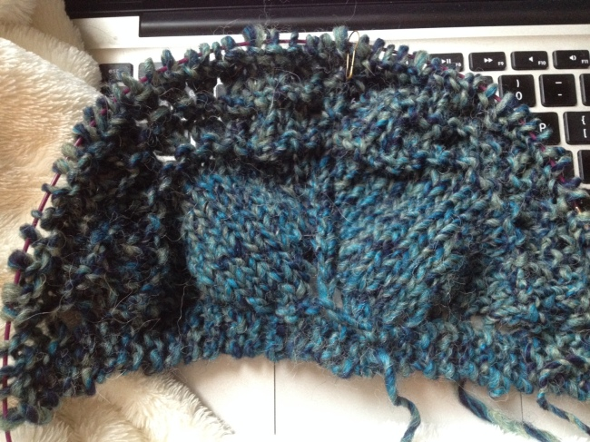 Old Shale Shawl - end of first section
