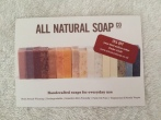 natural soap from a small business
