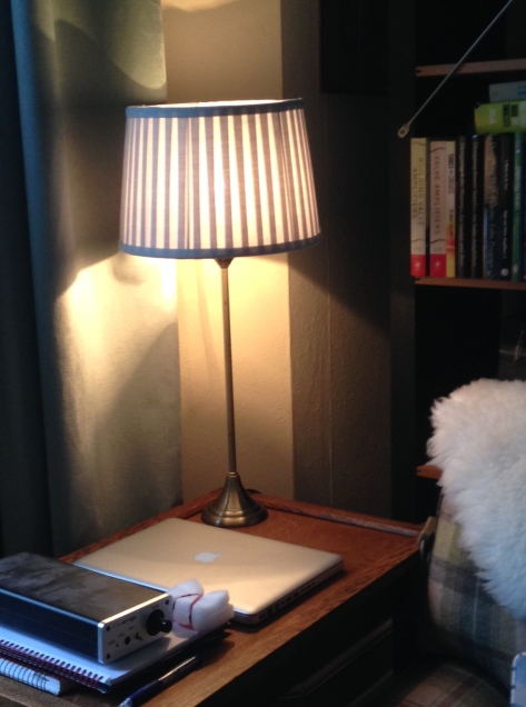Laura Ashley lampshade by night