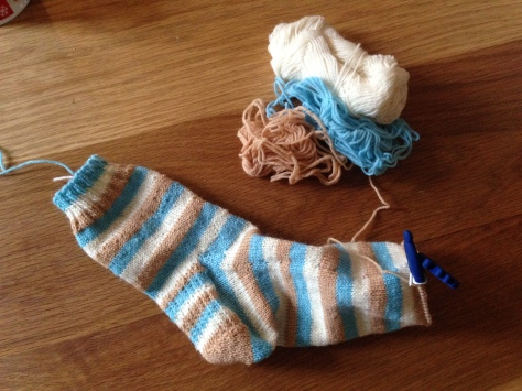 Sock-in-progress.. just the toe left